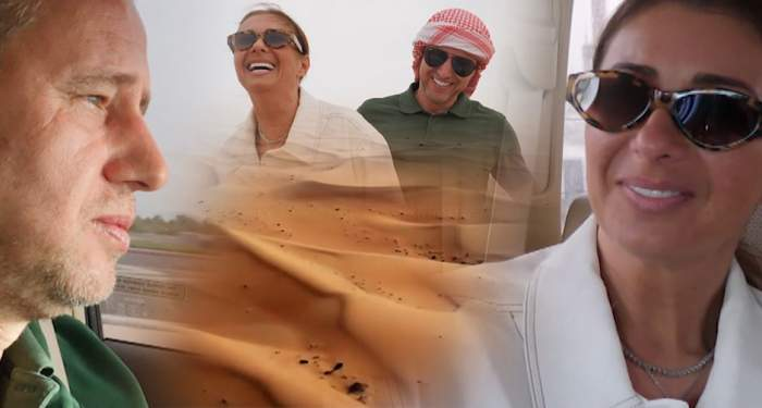 Imagini exclusive din vila de milioane de euro a Anamariei Prodan. Momente de senzaţie cu sexy impresara şi Reghe în deşert, la safari