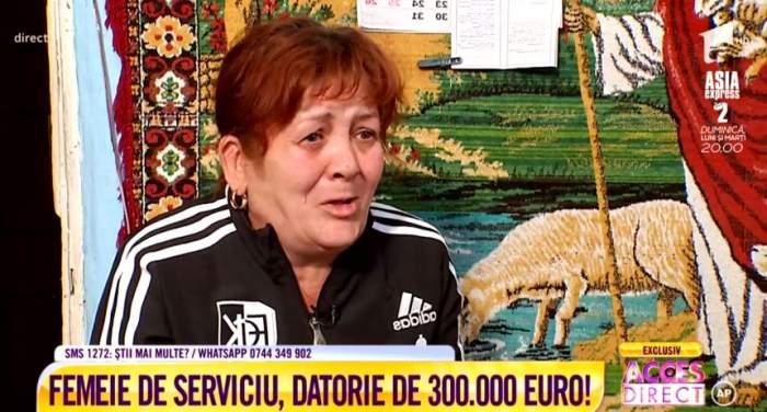 """Femeie de serviciu, datorie de 300.000 de euro. Riscă să ajungă pe drumuri, după ce a fost păcălită. """"Nu ştiu ce am semnat"""""""