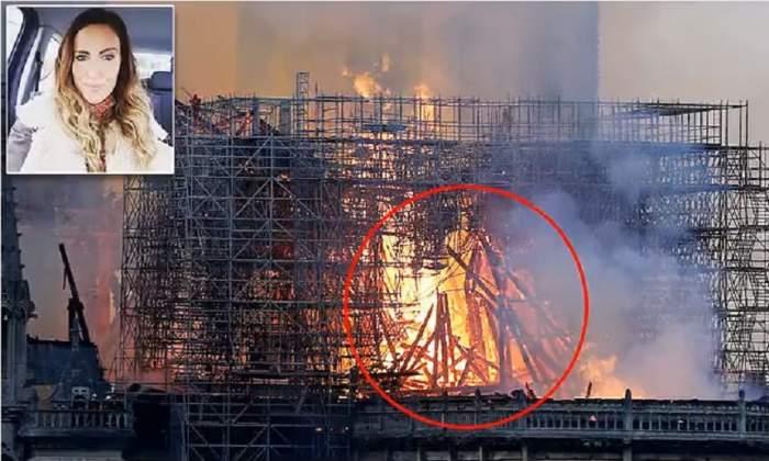 Imaginea care a stârnit controverse online. O femeie susține că l-a văzut pe Iisus în focul de la Notre Dame