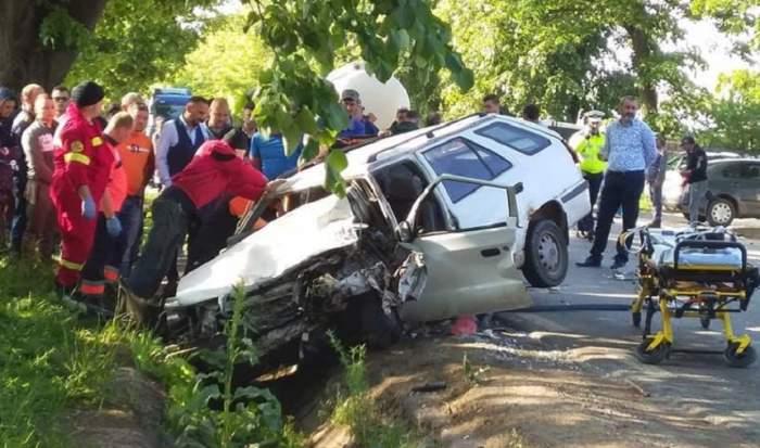 Impact mortal în Galaţi! O femeie a murit în urma unui accident produs de soţul ei