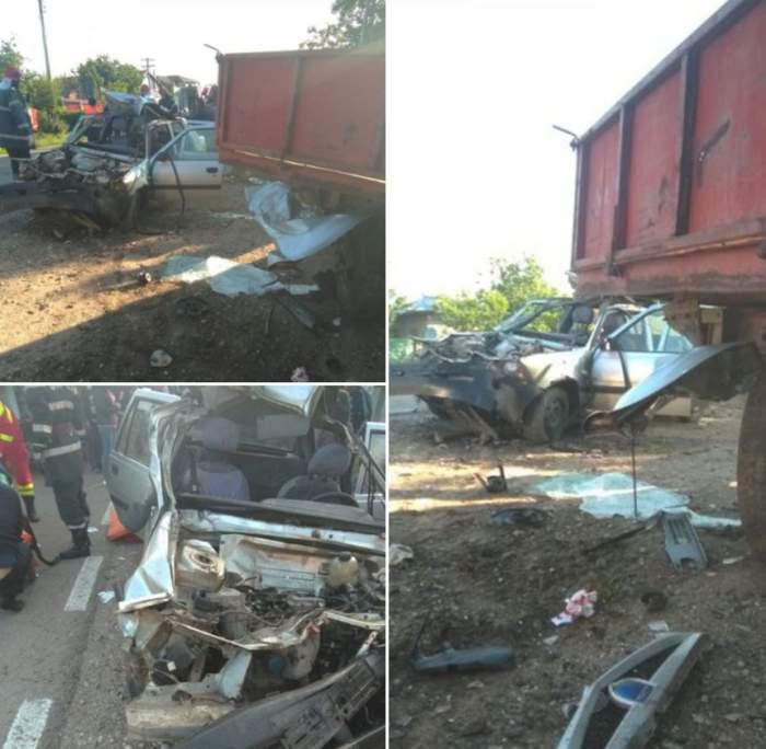 Accident devastator în această dimineaţă, în Giurgiu. Sunt patru victime / FOTO