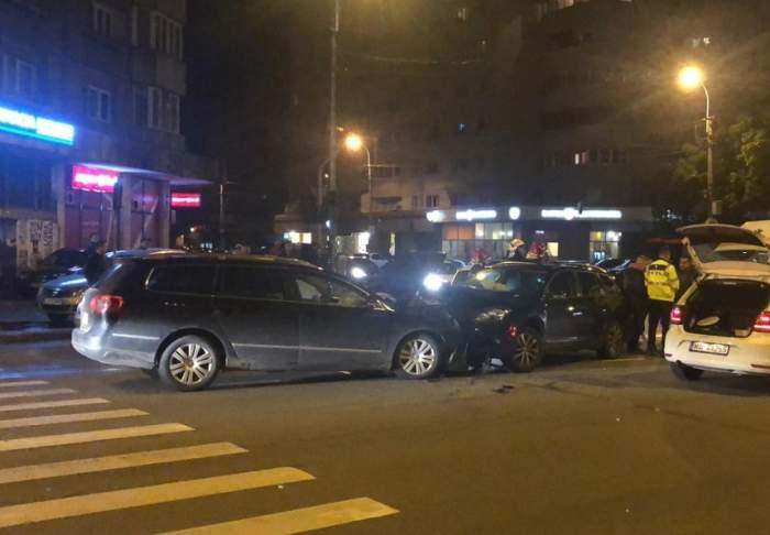 Scene şocante într-o intersecţie din Cluj! Şi-a prins soţul cu amanta, în timpul unui accident rutier