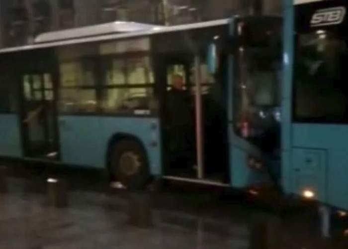 Accident, aproape de Cişmigiu. Două autobuze STB s-au ciocnit