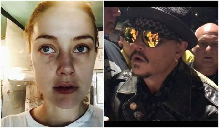 """Johnny Depp reîncepe scandalul cu fosta soție, actrița Amber Heard: """"Avea vânătăi desenate"""""""