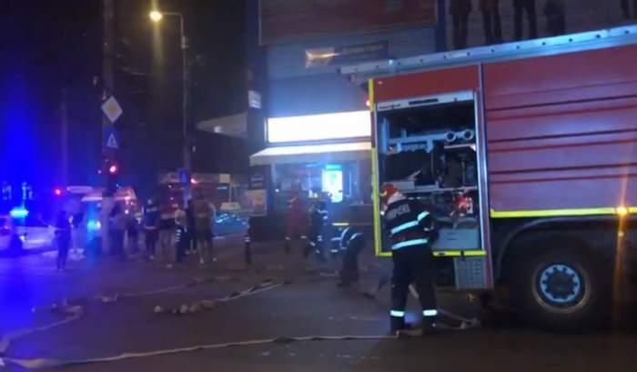 Incendiu într-un centru comercial din București / VIDEO