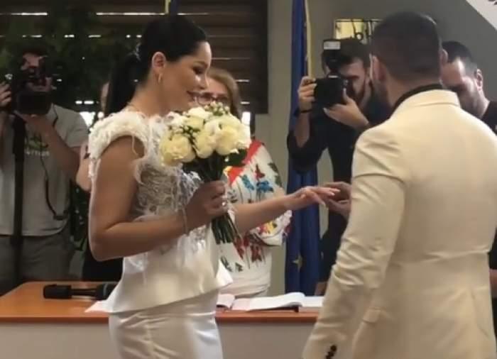 Să vezi şi să nu crezi! Cine a prins buchetul la nunta lui Brigitte cu Florin Pastramă. FOTO