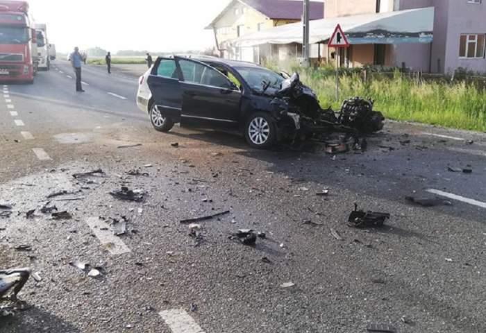 Circulaţie rutieră blocată pe DN1! Accident grav din cauza unui şofer care a adormit la volan