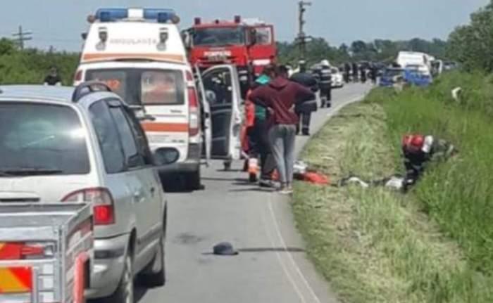 Biciclistul decapitat în Arad era tatăl a zece copii. Internauţii au demarat o strângere de fonduri pentru a ajuta familia îndoliată