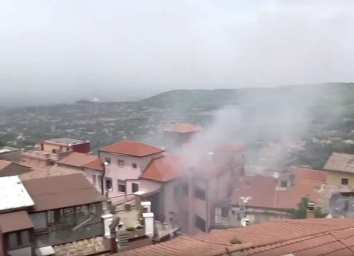 Alertă în Italia! Explozie uriaşă, provocată în apropiere de Roma