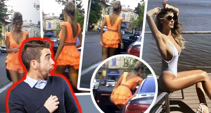 """VIDEO / Bomba sexy de la """"Neatza"""" a făcut fericit un bărbat, în plină stradă! Imagini fierbinţi"""