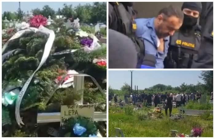 Mormântul lui Marcel Lepa, acoperit de un munte de flori. Criminalul polițistului din Timiș a fost înmormântat. VIDEO
