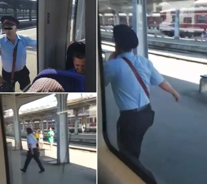 """""""Naşul"""" s-a făcut de râs, dimineaţă, în faţa călătorilor. A început să alerge după un tren CFR, după ce mecanicul l-a uitat pe peron / VIDEO"""