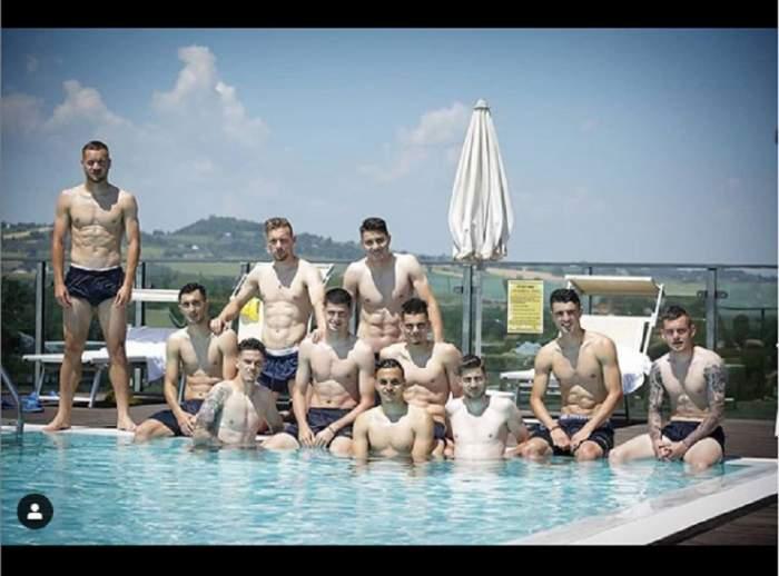 """""""Triumfătorii"""" din meciul cu Croaţia s-au tras în poză la piscină! Totuşi, un amănunt surprinde"""