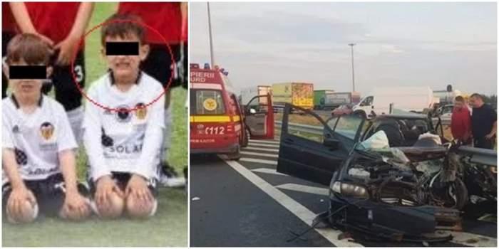 """Lacrimi și durere pentru Rareș, băiețelul mort în accidentul produs pe A1. """"Vei fi mereu în sufletele noastre"""""""
