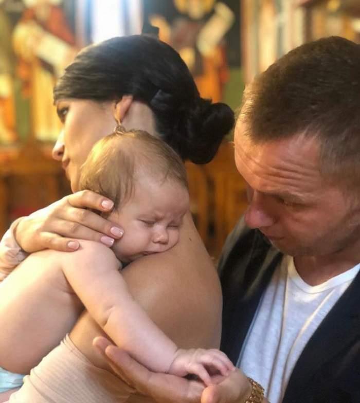 Ziua cea mare a venit! Codin Maticiuc și-a botezat fetița. Imagini uimitoare din biserică