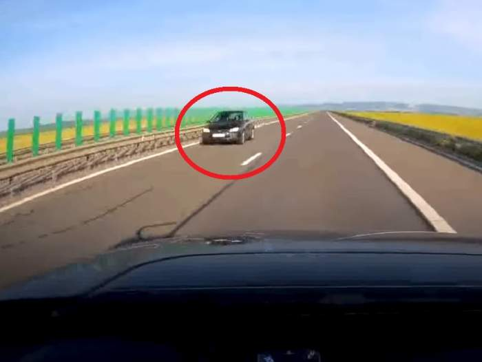 Haos pe autostrada A3! O şoferiţă conduce pe contrasens / VIDEO