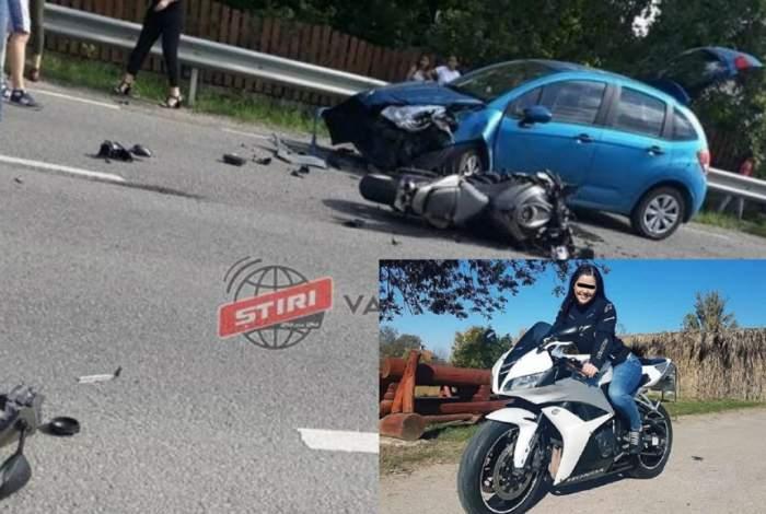 Motociclistă din Satu Mare, în stare gravă în urma unui accident rutier! Prietenii ei cer ajutor