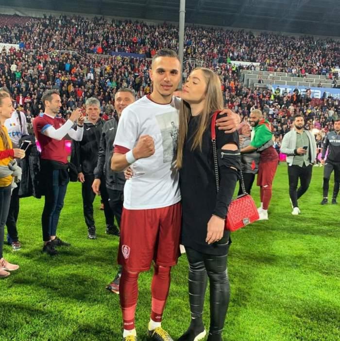 Ea este iubita lui Cristi Manea. Tânăra a fost lovită de un suporter, după meciul României U21 cu Franţa