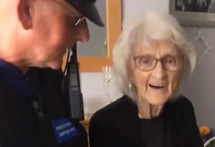 Femeie arestată la 93 de ani, deşi n-a comis vreo infracţiune. Motivul pentru care oamenii legii i-au pus cătuşele