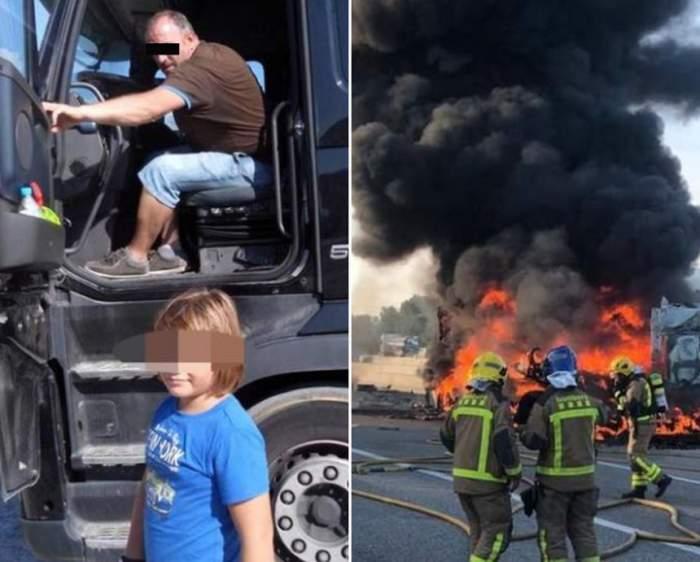 """Nicu, românul care a ars într-un TIR, în Spania, i-a promis băieţelului său că pleacă în ultima cursă. """"Nu te-ai mai întors"""""""