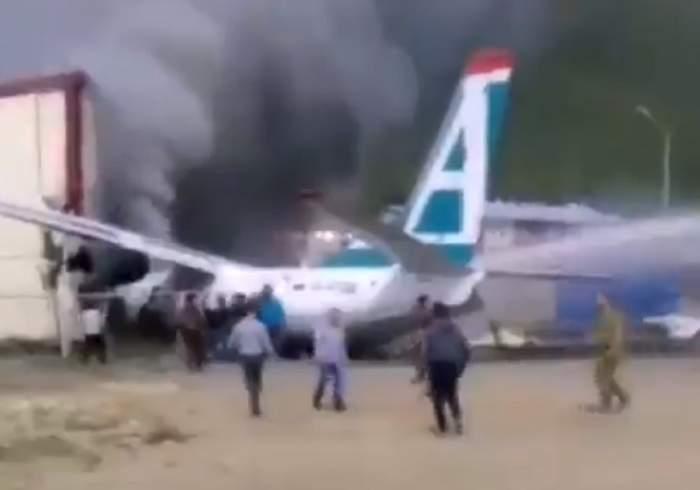 Incident grav pe aeroport! Cel puţin doi oameni au murit, după ce un avion rus a avut o aterizare forţată