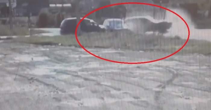 Accident cumplit în Neamț! Două autoturisme s-au ciocnit violent în intersecție
