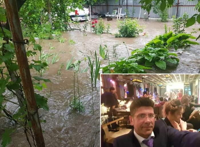 """Stelian Ogică, victima inundaţiilor: """"Ajutooor"""" / VIDEO"""