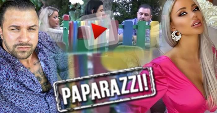 """VIDEO PAPARAZZI / Alex Bodi a cedat în faţa """"ispitei""""! Bianca Drăguşanu a fost de faţă, dar nu a avut nicio reacţie"""