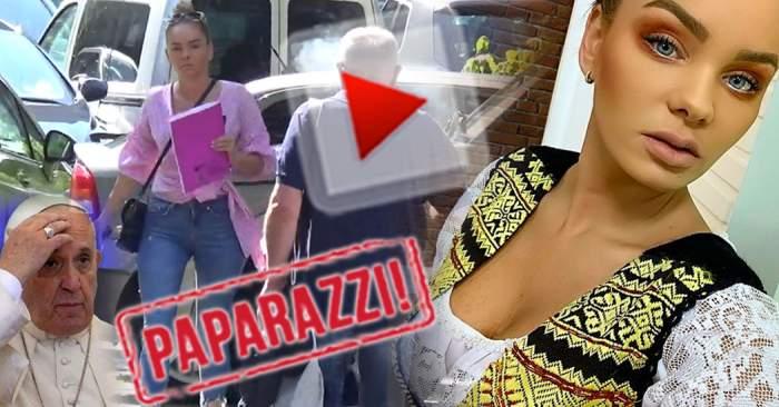 VIDEO PAPARAZZI / Venirea Papei Francisc în România i-a creat probleme Mariei Constantin! Gestul din cauza căruia oamenii legii au luat-o în vizor pe vedetă
