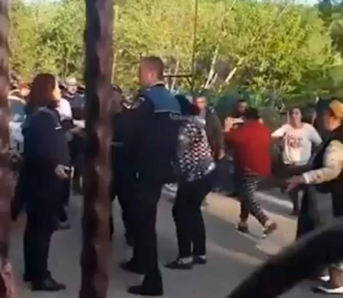 Poliţistă însărcinată, luată la bătaie într-un scandal din Argeş / VIDEO