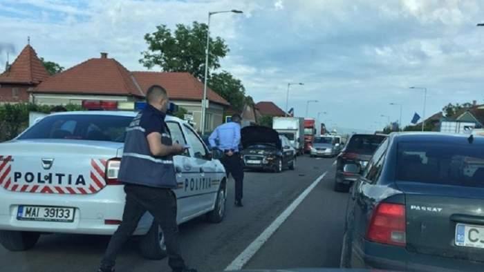 O clujeancă s-a urcat băută la volan, a provocat un accident virând pe interzis, apoi a fugit de la faţa locului!