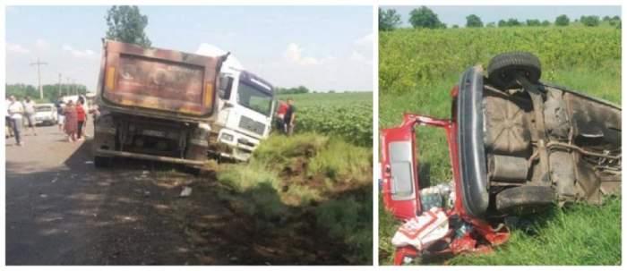 Accident mortal în Brăila! Un șofer fără permis și beat a provocat o tragedie soldată cu 2 morți și 3 răniți