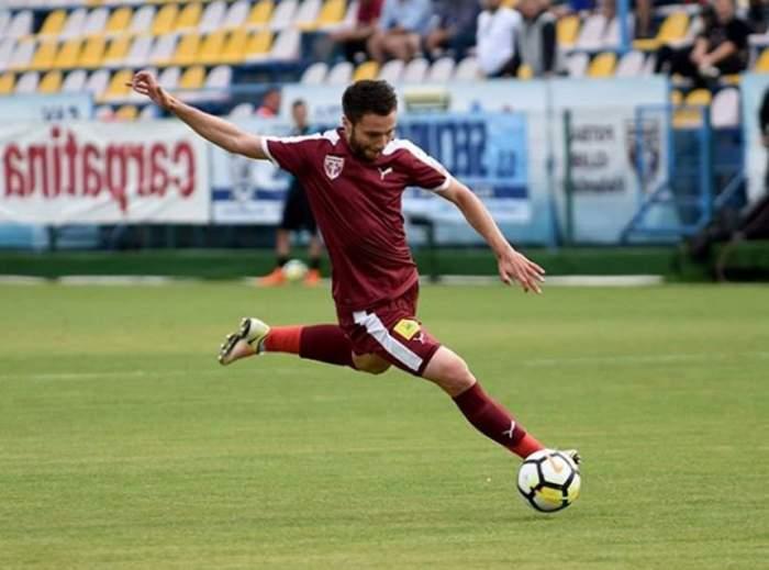 Un alt fotbalist din Liga 1 şi-a pus pirostriile. Un jucător de la Dinamo i-a fost naş