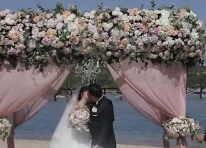 Nuntă cum nu s-a mai văzut pe insula milionarilor! Imagini desprinse din basme. VIDEO