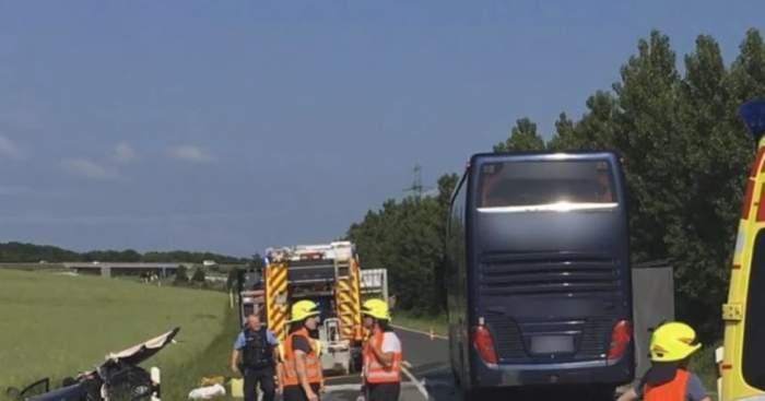 Autocar plin cu elevi, accident grav pe autostradă. Sunt multe victime / VIDEO