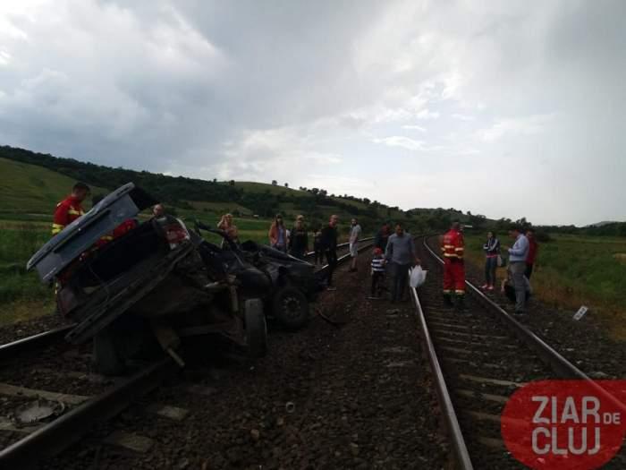 Şoferul vinovat de accidentul feroviar din Cluj nu avea permis, iar autoturismul era radiat