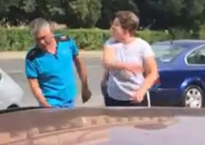 Bărbat, luat la palme și pumni de soție, pe o stradă aglomerată din Arad. VIDEO