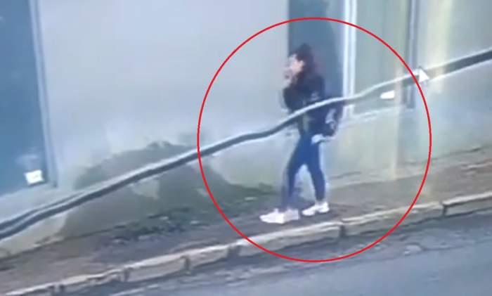 Șocant! Ultimele imagini cu Mihaela Melencu, tânăra dispărută din Caracal, înainte de a se urca în mașină. VIDEO