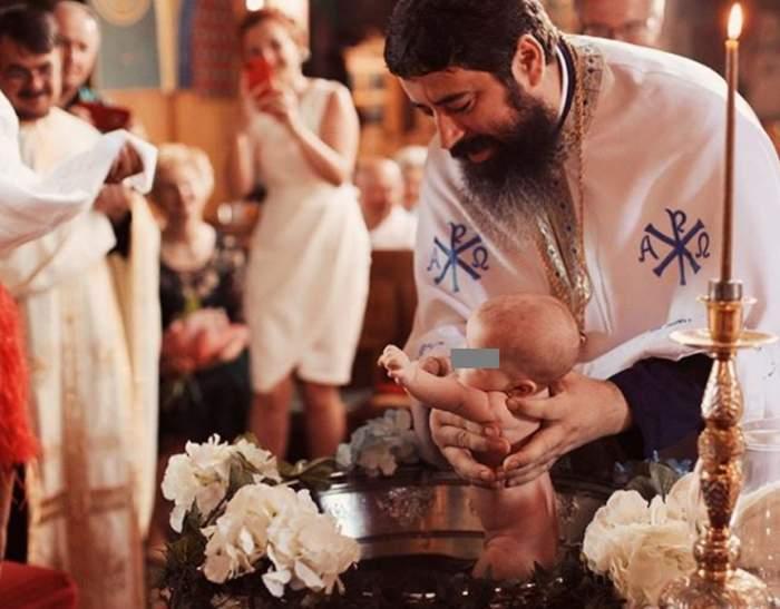 Botez mare în lumea bună. O artistă de la noi şi-a creştinat fetiţa / FOTO