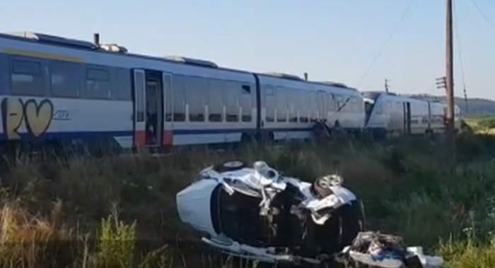 Accident grav la ieşire din Reghin! Un elicopter SMURD a intervenit / VIDEO