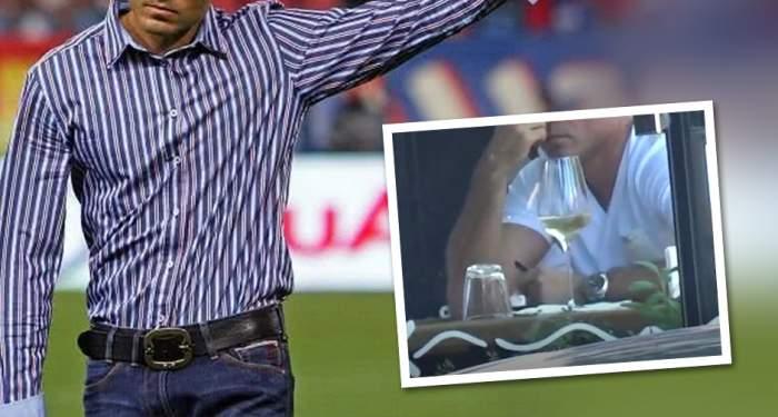 VIDEO PAPARAZZI / Ce face alcoolul din om! Gestul uluitor pe care l-a făcut un fost mare fotbalist român, după ce a băut câteva pahare cu vin
