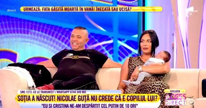 Nicolae Guţă şi Cristina, nuntă şi botez în aceeaşi zi. Când vor avea loc cele două evenimente