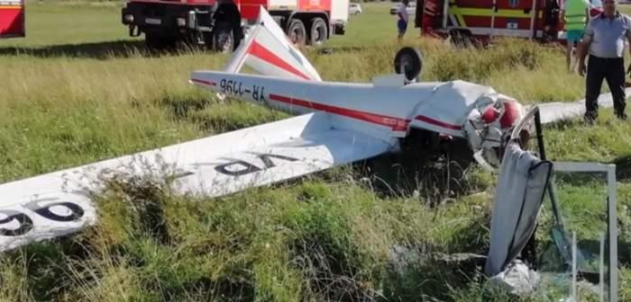 Cine este pilotul rănit după prăbușirea planorului de la Sânpetru. Și-a rupt coloana luând lecții de zbor