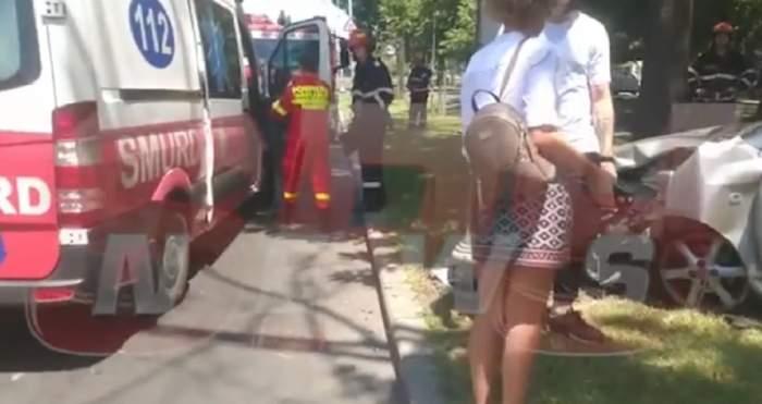 Accident în nordul Capitalei. Echipajele de salvare au intervenit imediat. VIDEO