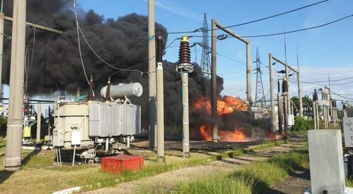 Incendiu puternic într-o gară din Vrancea! Pompierii au intervenit de urgență