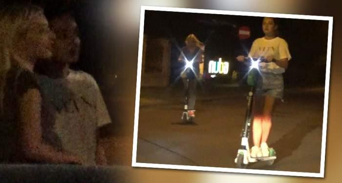 VIDEO PAPARAZZI / Nu contează cât e ora, se distrează Alexandra şi Teodora! Iată cum se răsfaţă fiicele lui Gigi Becali la ceas de seară