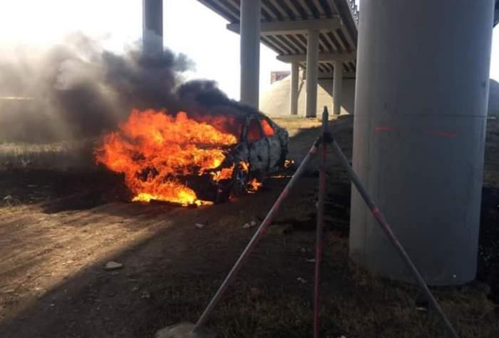 Tânărul care s-a autoincendiat în propria mașină a murit. Care au fost ultimele sale cuvinte