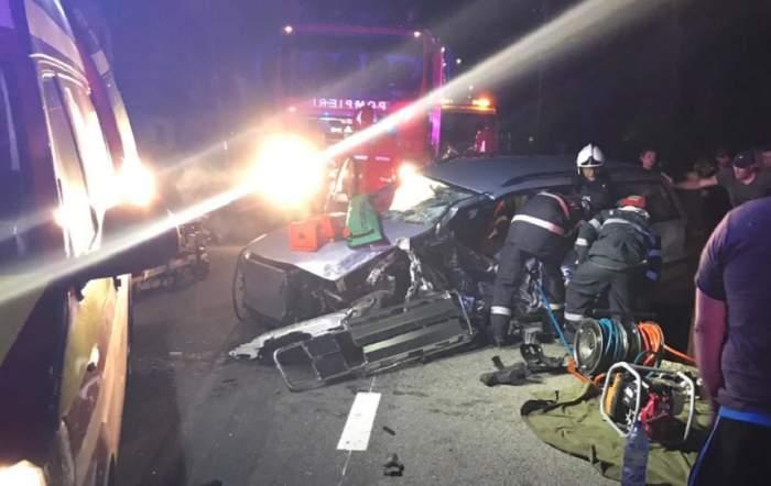 Tragedie pe un drum din Bistrița! Un bărbat a murit, altă persoană a rămas încarcerată