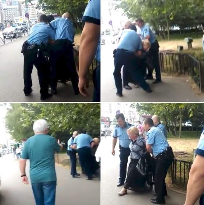 Un nou abuz al Poliţiei. Femeie maltrată şi bruscată pe stradă de trei oameni ai legii doar pentru că ar fi refuzat să se legitimeze / VIDEO