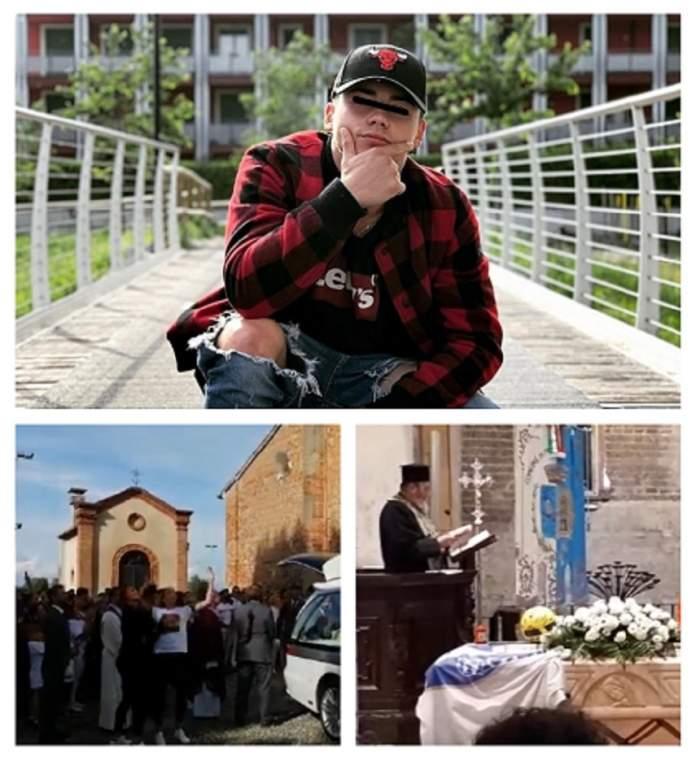 Petrişor, românul ucis şi abandonat în Italia, a fost înmormântat. Sute de oameni l-au condus pe ultimul drum. VIDEO
